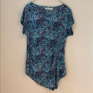 Cato asymmetrical Top with side ruching size m